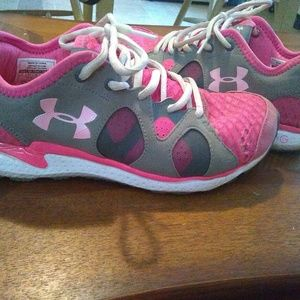 Pink Under Armour Tennis Shoes